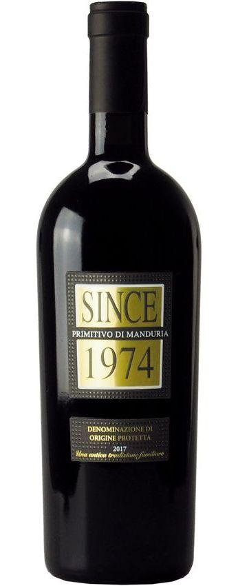 2018 Since 1974 Primitivo di Manduria DOP