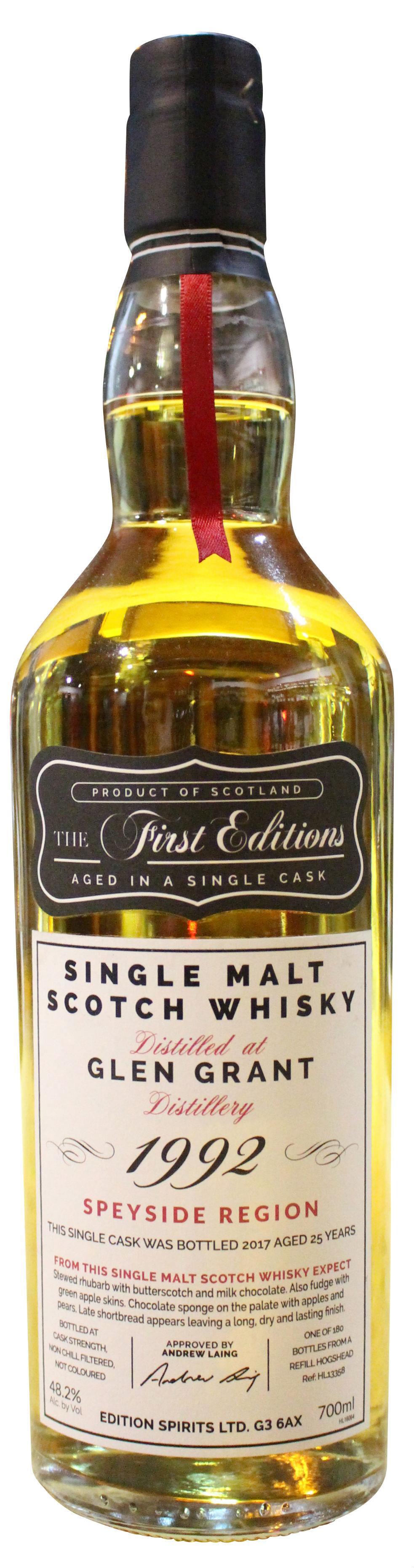 Glen Grant The First Editions Single Malt Scotch Whisky 25 y.o. - 1992er