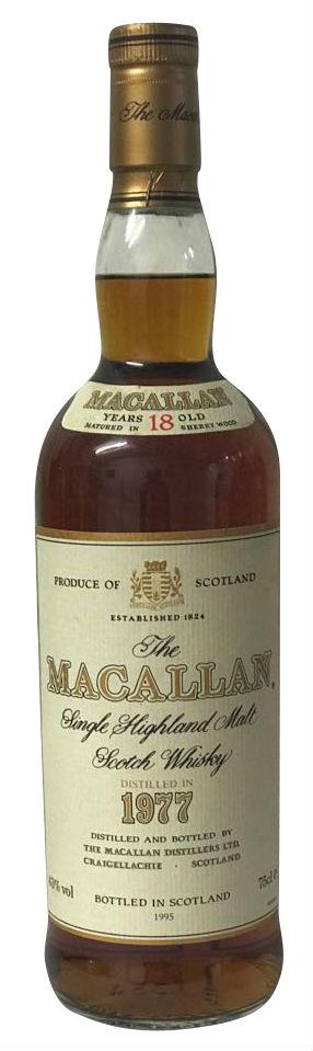 The Macallan Single Highland Malt Scotch Whisky 18yo - 1977er