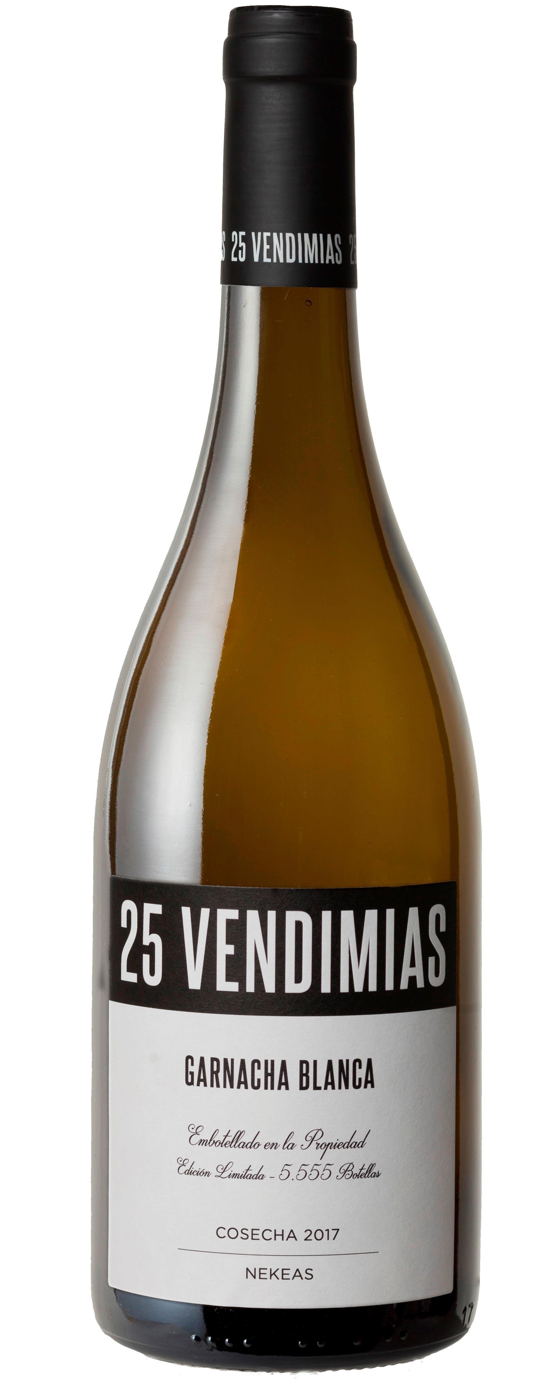 """2017 """"25 Vendimias"""" Garnacha Blanco DO"""