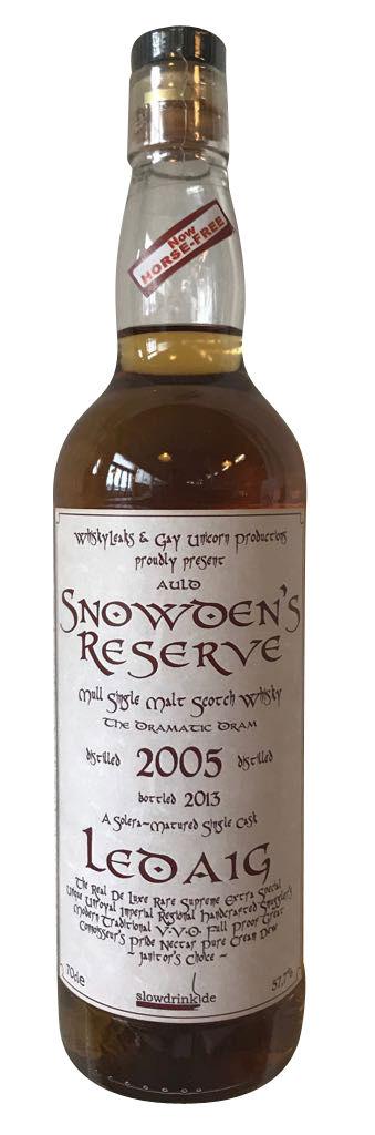LEDAIG Snowden's Reserve Single Malt Whisky - 2005er