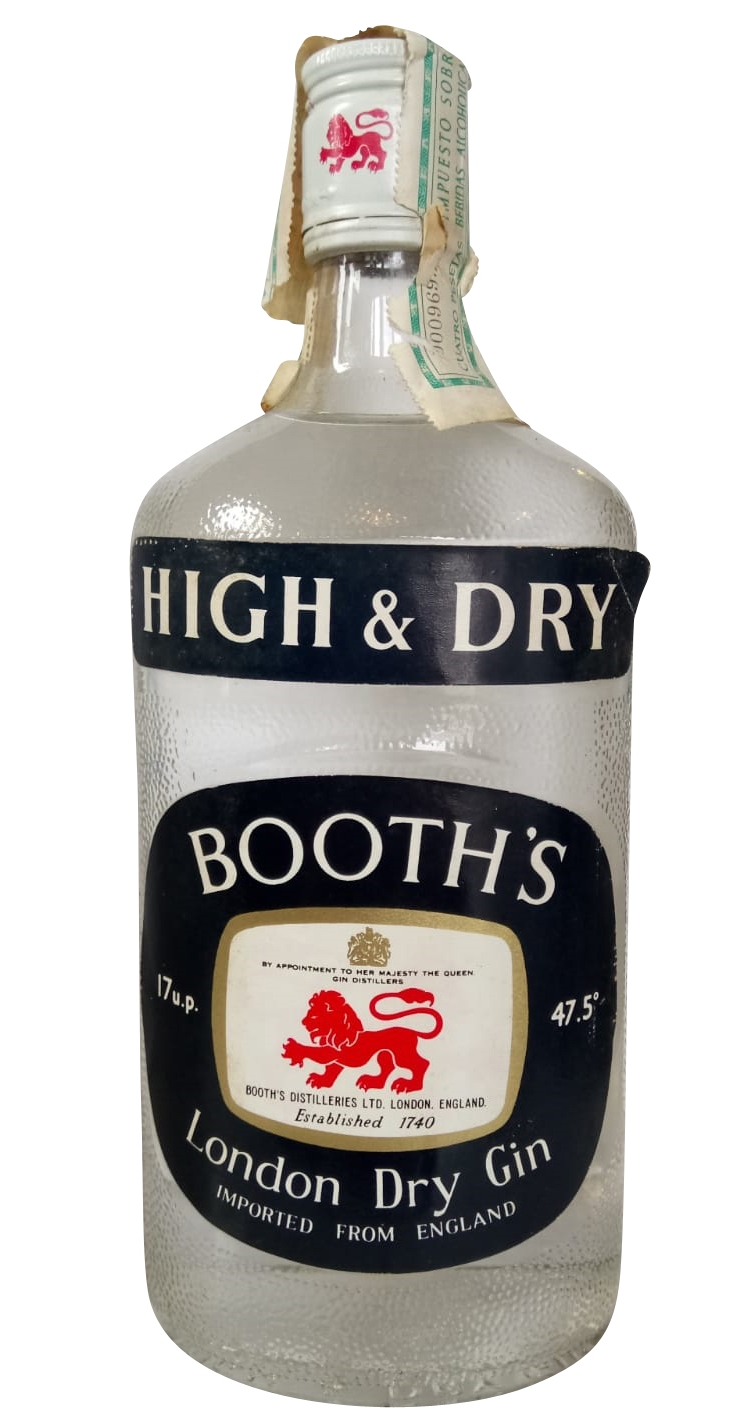 BOOTH´S High & Dry London Gin 1960er