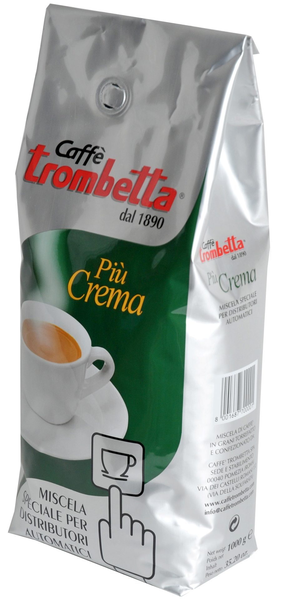 "Trombetta ""Piu Crema"" 1 kg Espressobohnen"